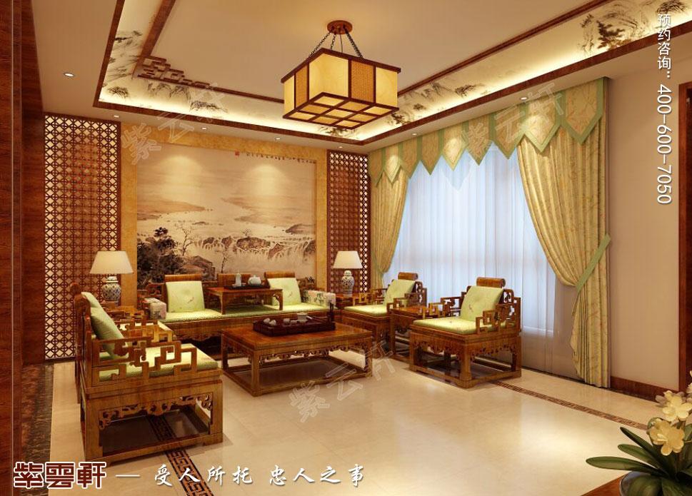 别墅客厅简约中式装修风格
