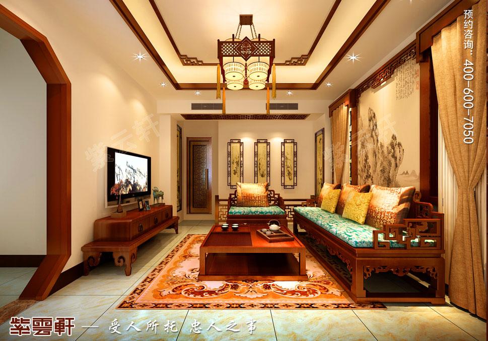 别墅会客厅简约中式装修风格