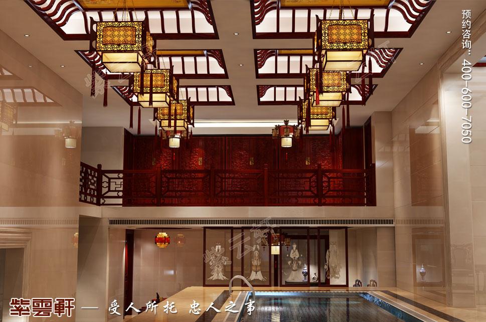 中式别墅装修泳池效果图