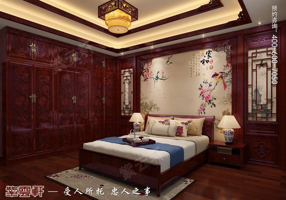 老人房卧室古典中式装修效果图