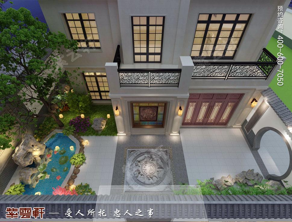 中式别墅装修庭院效果图
