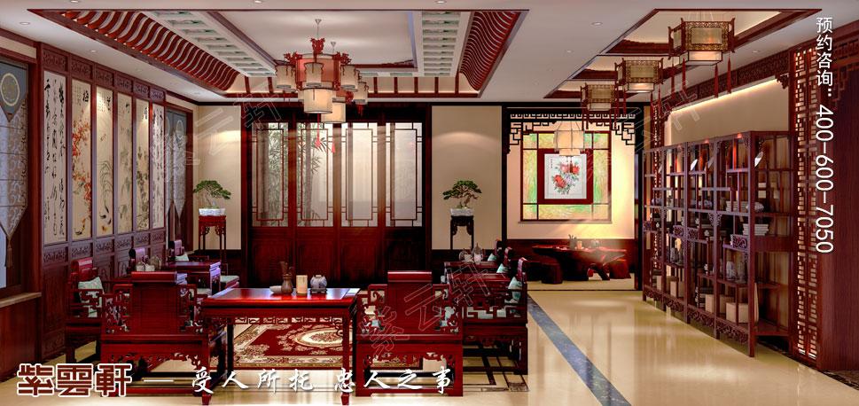中式别墅装修中堂效果图