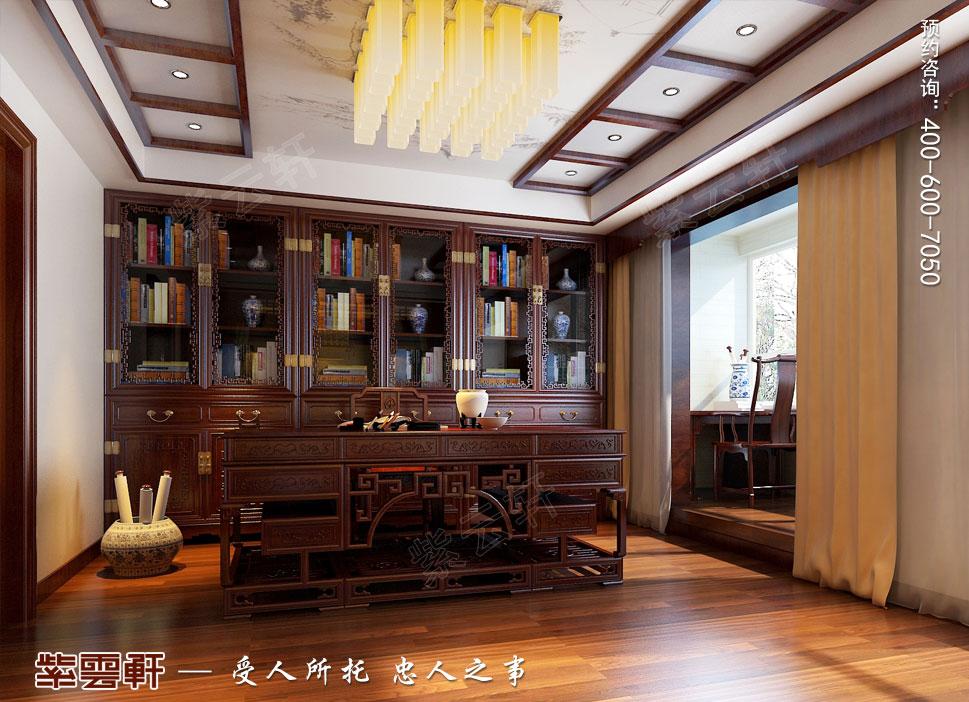 别墅书房现代豪华中式装修图