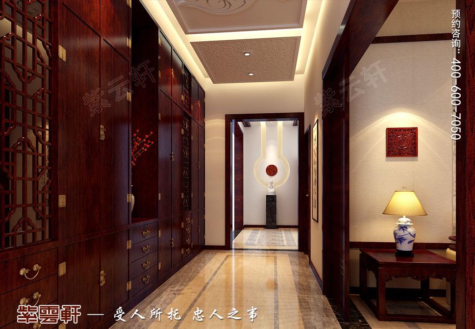 别墅门厅现代豪华中式装修图