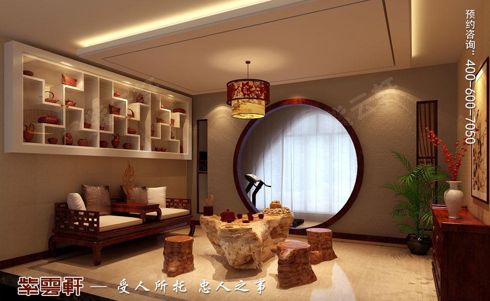 别墅茶室现代豪华中式装修图