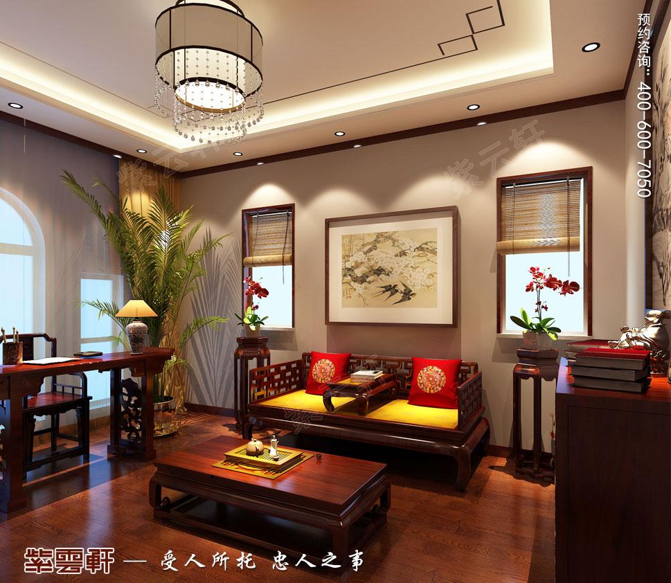别墅休息室现代豪华中式装修图