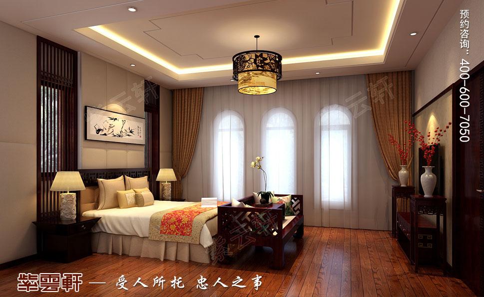 别墅老人房现代豪华中式装修图