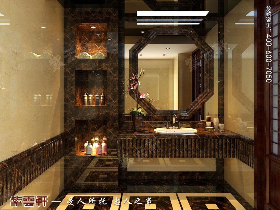 别墅卫生间现代豪华中式装修图