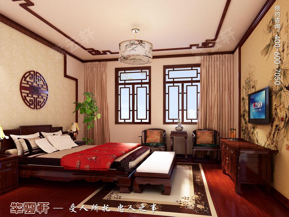 别墅客卧现代中式装修图片