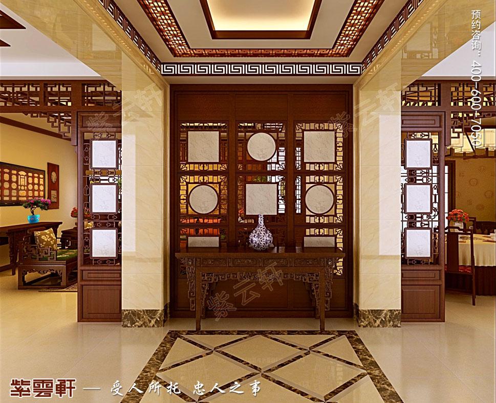 简约古典别墅门厅中式装修