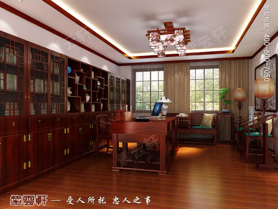 别墅书房现代中式装修图片
