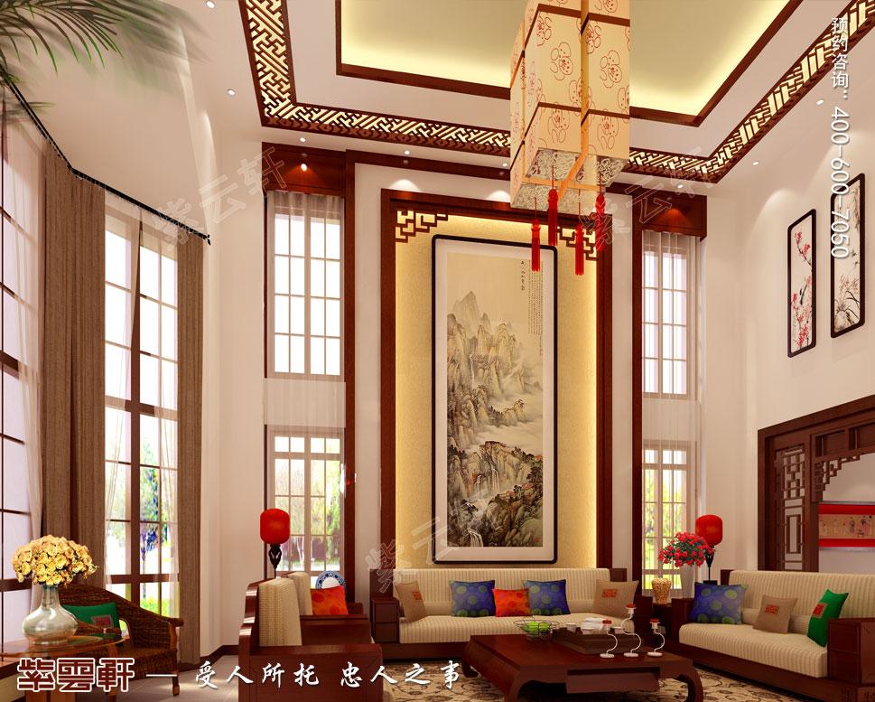 别墅客厅现代中式装修图片