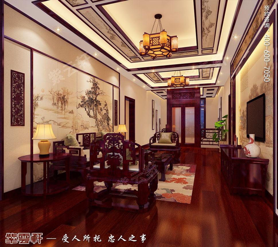 简约古典别墅起居室中式装修