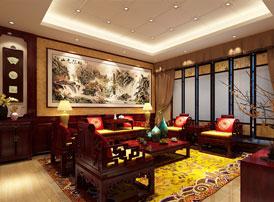 山东威海别墅现代中式装修效果图 浓郁深沉下的温婉细腻