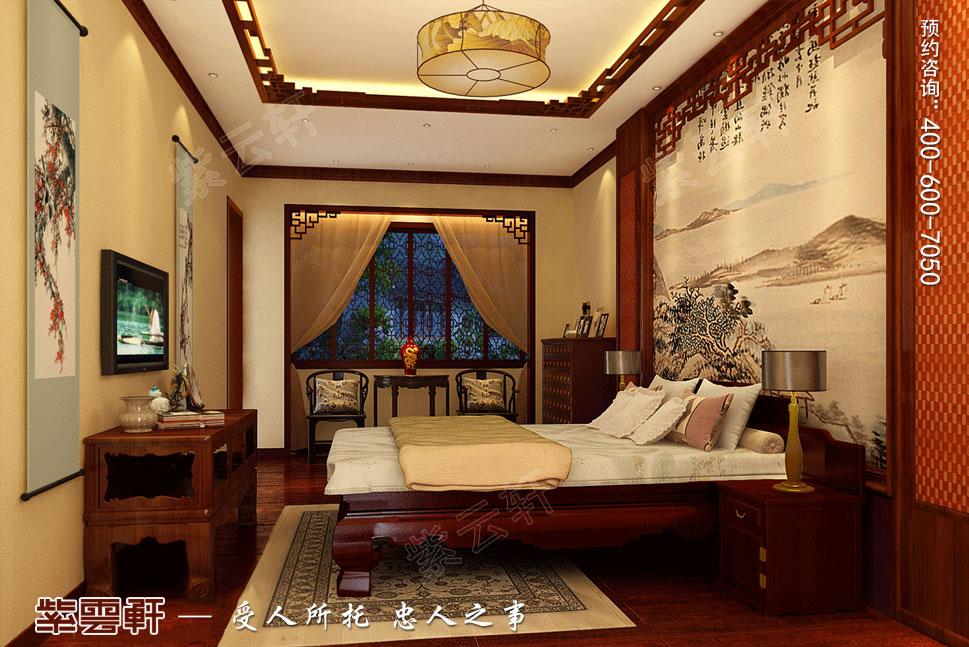 别墅老人房现代中式装修图片