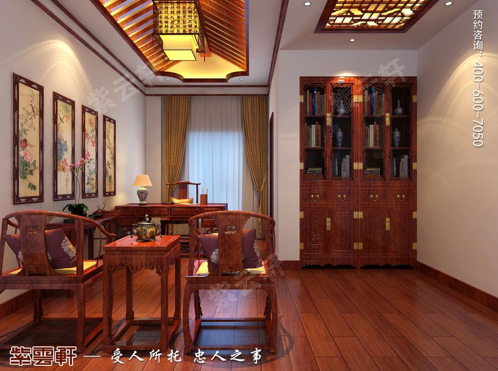 简约古典别墅书房中式装修