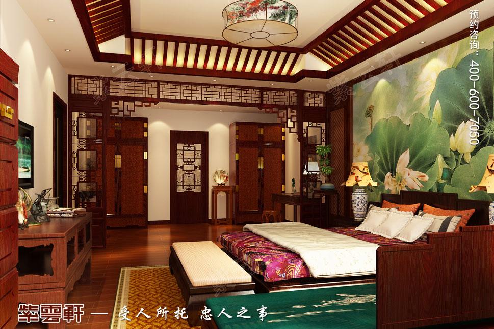 别墅主卧室现代中式装修图片