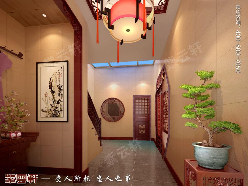 别墅走廊现代中式装修图片