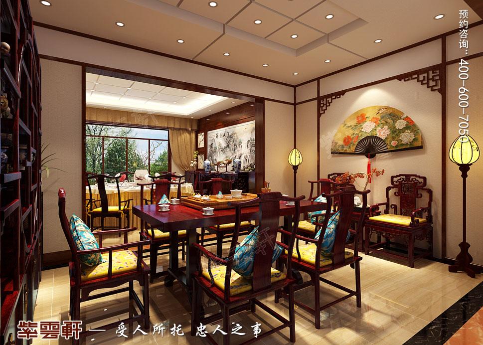 别墅餐厅现代中式装修效果图
