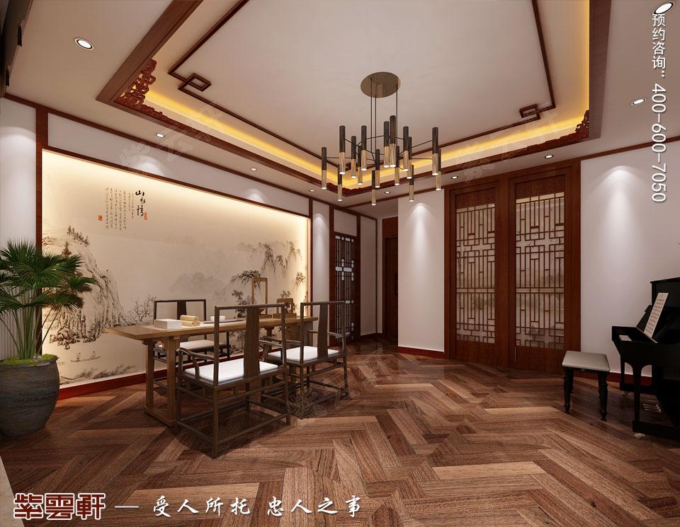 别墅茶室简约古典中式装修风格
