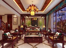 北京别墅现代中式装修效果图 锦天绣地,薰香手祷,福禄如川