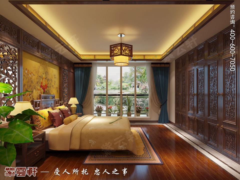 别墅主卧室简约古典中式装修风格