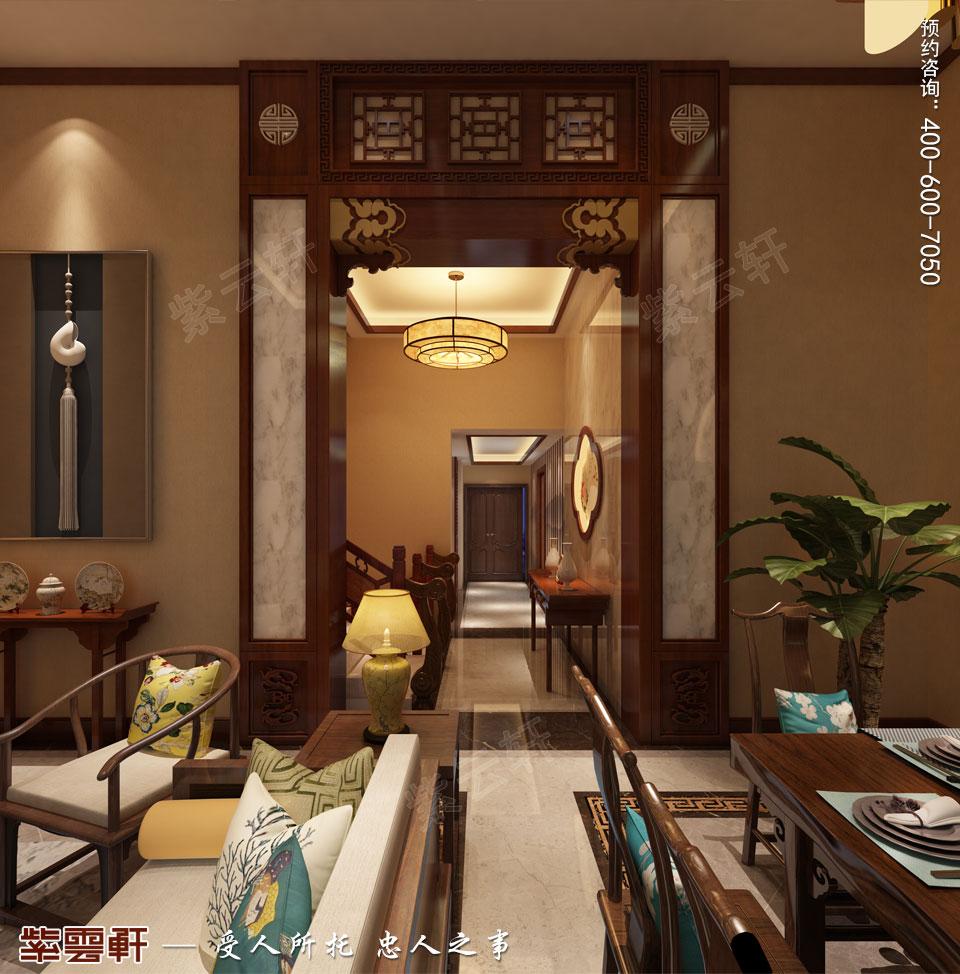 别墅餐厅简约古典中式装修风格