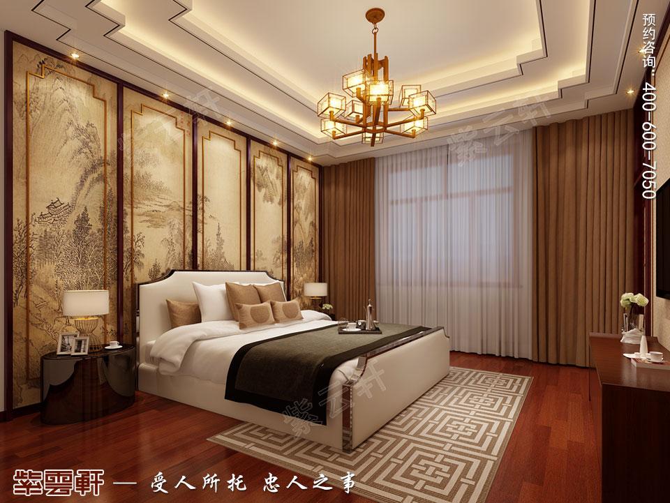 别墅女儿房现代中式装修效果图