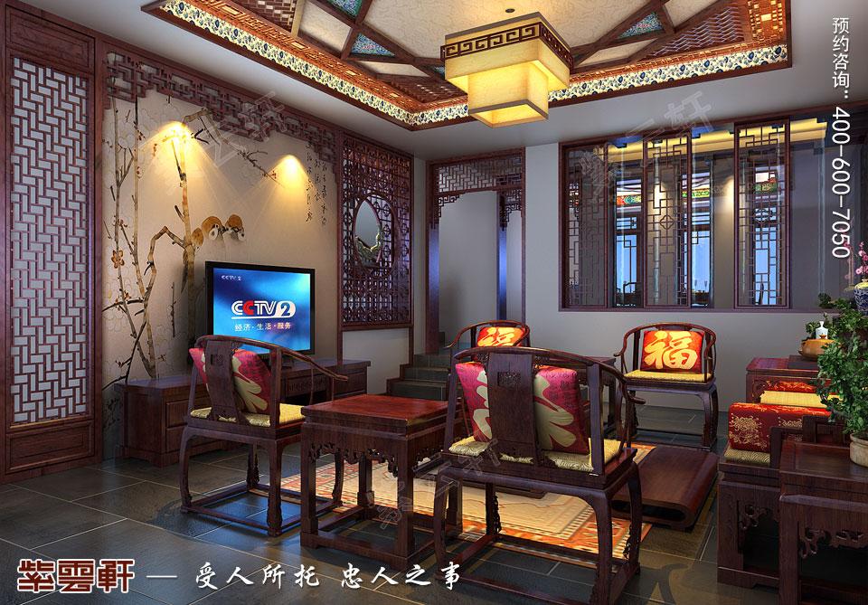 别墅客厅现代中式风格装修效果图