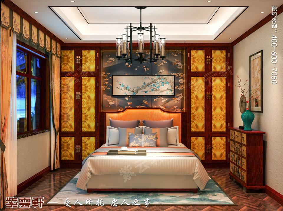 新中式风格别墅装修女儿房效果图
