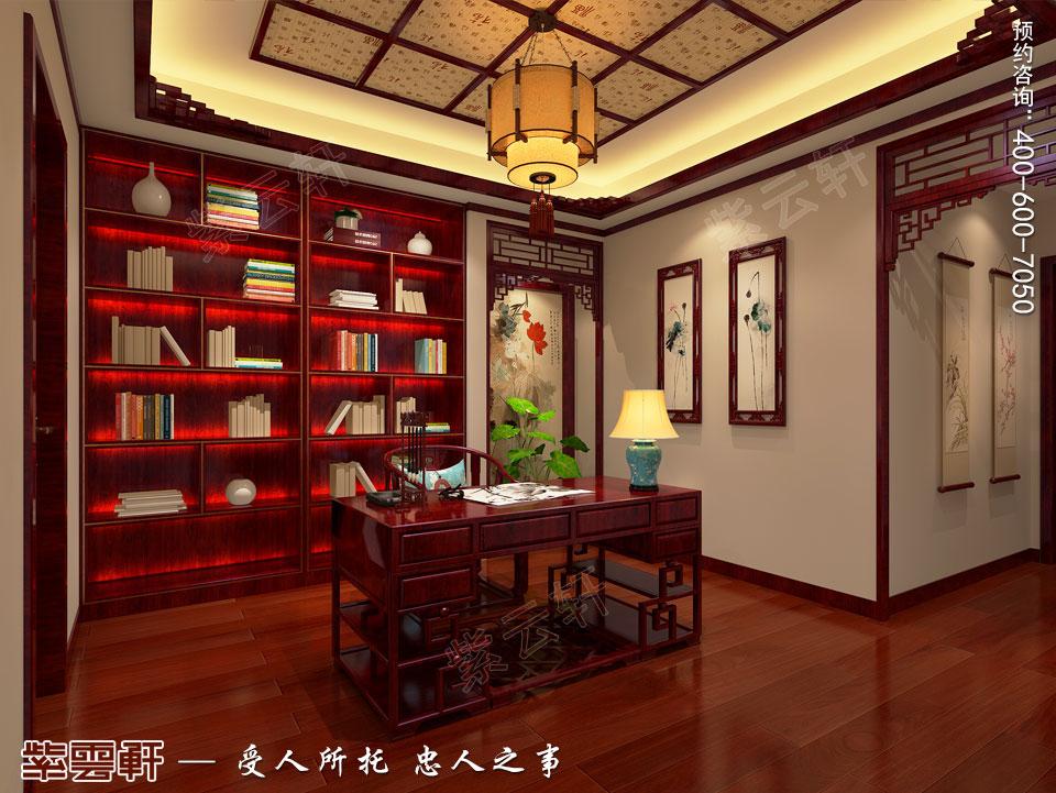 别墅书房现代中式装修效果图