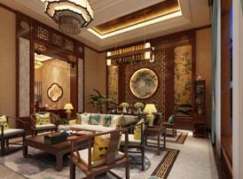 北京顺义别墅简约古典中式装修风格 日高庭院杨花转,草色遥看近却无