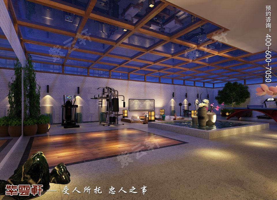 新中式风格别墅装修健身室效果图