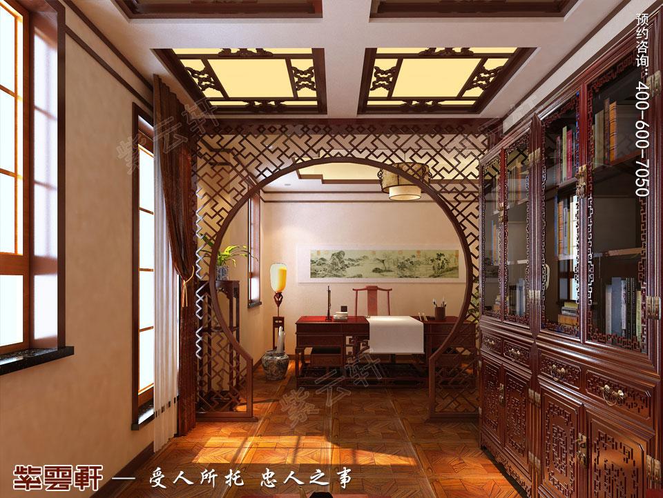 联排别墅简约古典中式风格装修效果图 古色生香 典雅