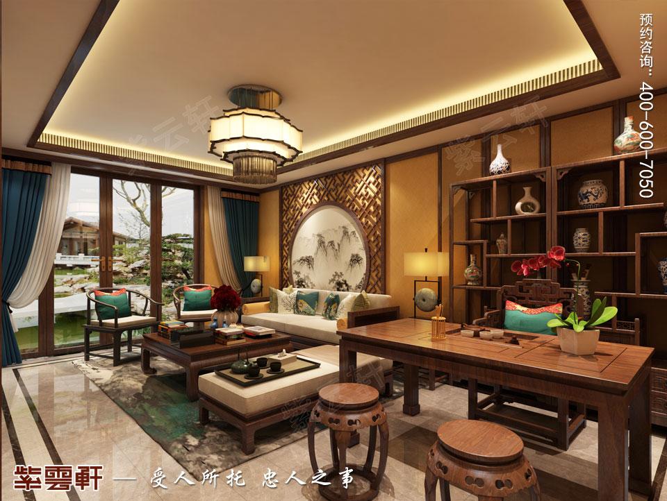 别墅起居室简约古典中式装修风格
