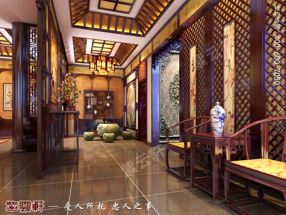 别墅过道中式古典装修图