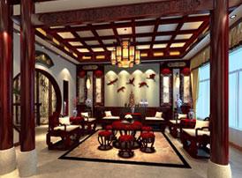 北京昌平金科府第简约古典中式风格装修图片--寒梅飘香,清雅脱俗