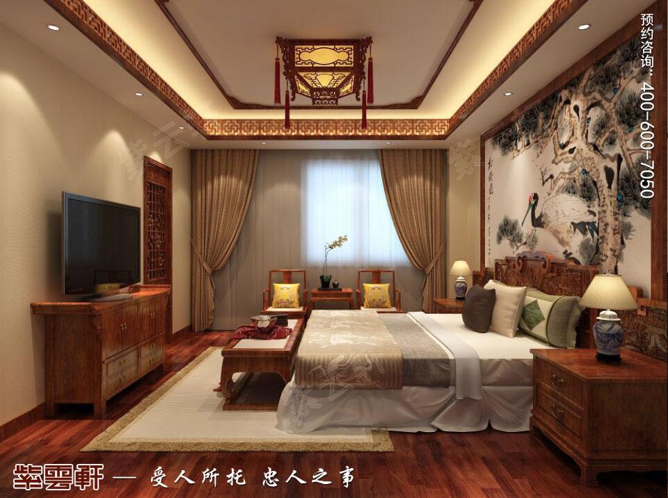 别墅老人房简约古典中式装修风格