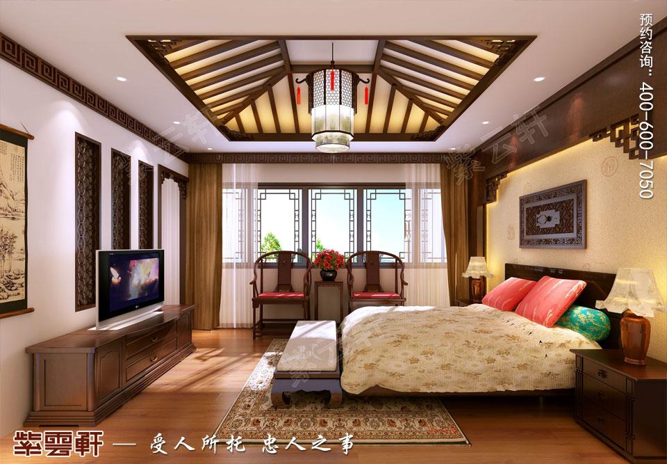 别墅次卧现代中式风格装修效果图
