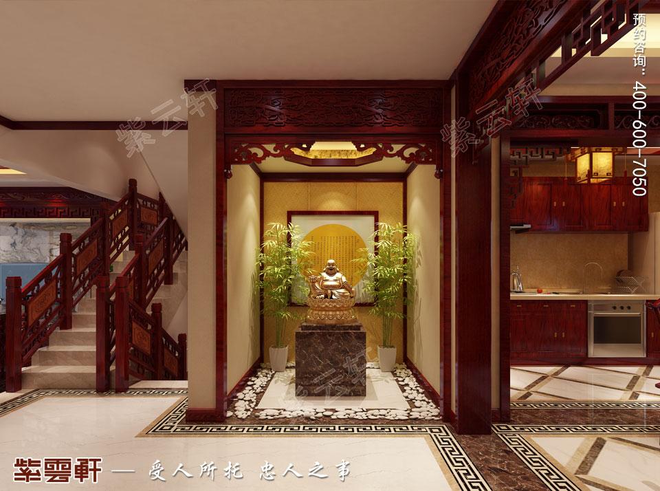 别墅佛堂现代中式装修效果图