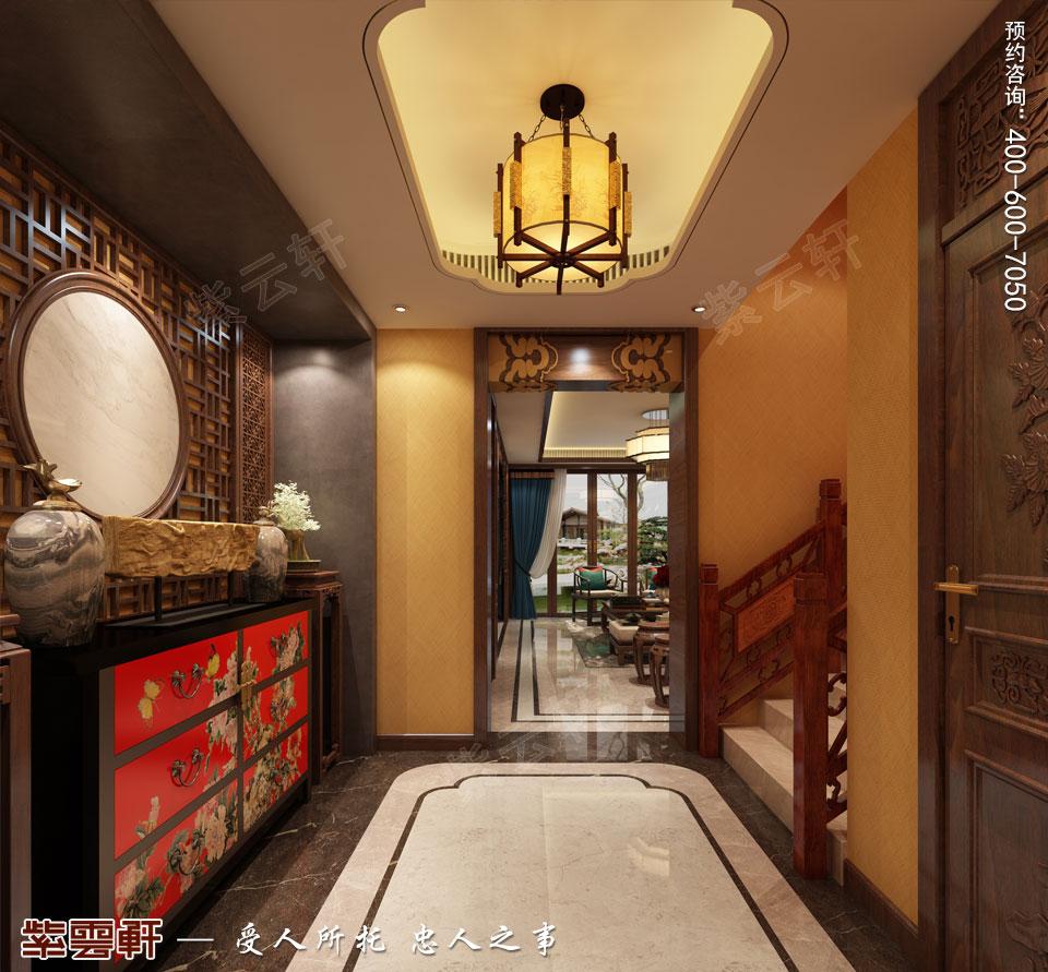 别墅门厅简约古典中式装修风格