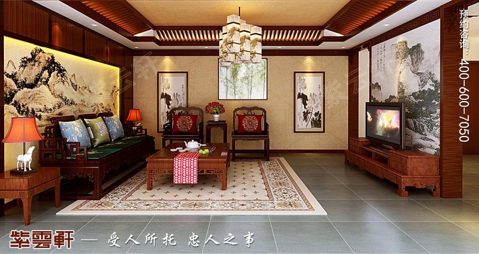 简约古典中式风格别墅<a href=http://www.bjzyxuan.com/qijushi/ target=_blank class=infotextkey>起居室装修效果图</a>