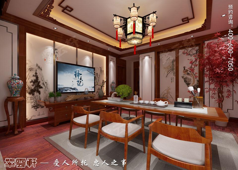 古典中式风格别墅装修茶室效果图