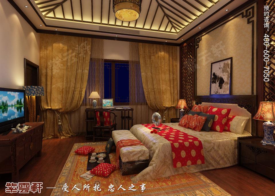 古典中式风格别墅装修男孩房效果图