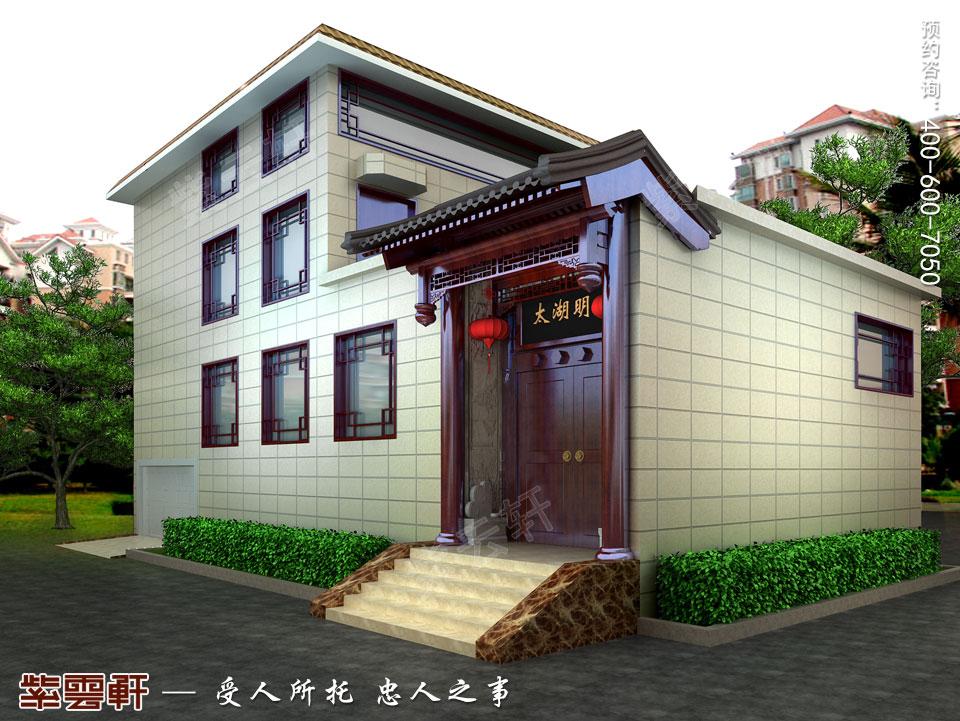 别墅庭院中式古典装修图