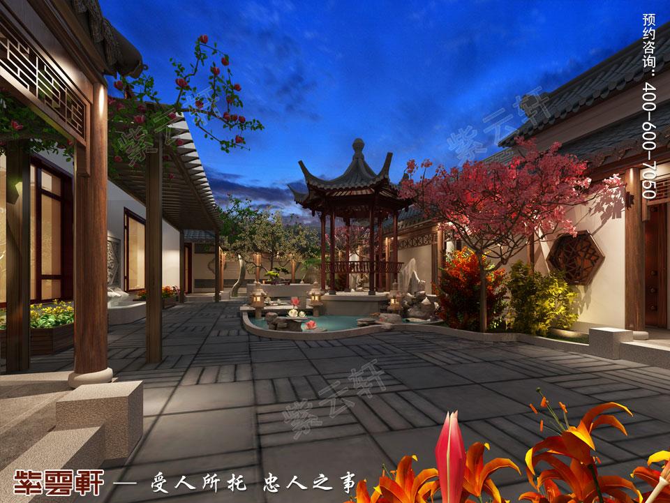 别墅庭院现代中式装修效果图