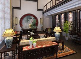 苏州西山园林别墅古典中式风格装修案例--依山旁水处,娴静幽居的诗意生活