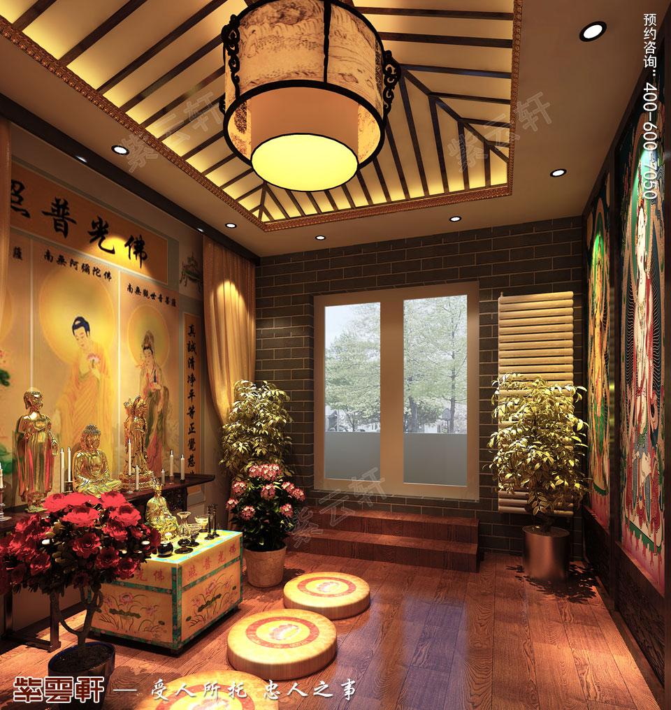 别墅佛堂中式古典装修图