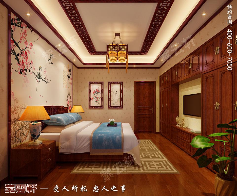 别墅次卧简约古典中式风格装修图