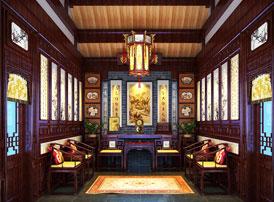 四合院别墅古典中式装修图片 花弄影,月流辉,十里楼台倚翠微